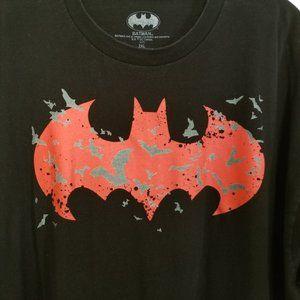 DC Comics Batman 2XL Black Short Sleeve Tee Shirt